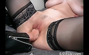 Busty blond call-girl receives say no to cum-hole licked