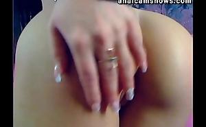Sexy amateur fingering her ass