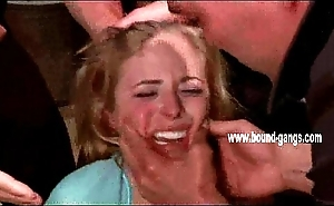 Blonde receives her face slapped