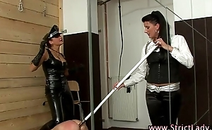 Bondage cock gets ass in ruins