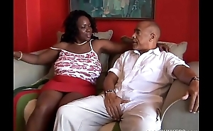 Busty mature black BBW loves near suck cock