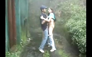 RAINY DAY YOUNG INDIAN WITH HIS BF ENJOYING