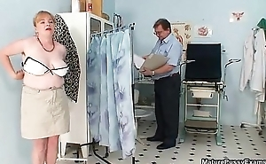 Fake doctor inspecting this mature mom