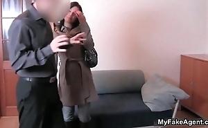 Cute brunette girl gets forced regarding bunch