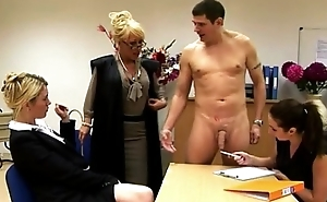 Poor boys get spanked and wanked in this dispirited class