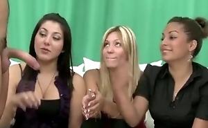CFNM loving ladies sucking cock