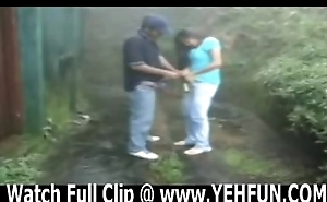 indian couple having sex in garden