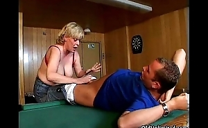 Nasty horny aged mom with big