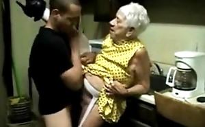 Granny 91 yo making out brat 21 yo