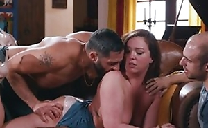 Mature has fun fingering vagina look over breathe hard with two males