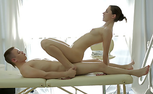 Rub-down with an increment of anal pleasure