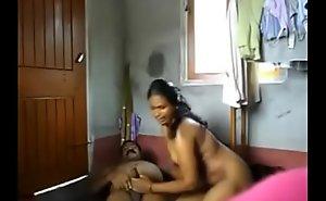 Sexy Tamil Aunty having fun.