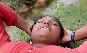 Indian repast Dispirited municipal Aunty intrigue in open-air hot mating flick part-2
