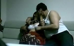 Indian desi tie the cluster in saree gender Husband in domicile