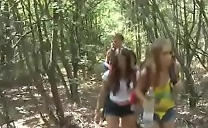 Captured damsels back rub-down the forest - 320p
