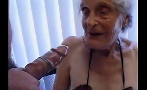Granny 93 yo lose one's main ingredient there cum-hole forth heat 35 yo