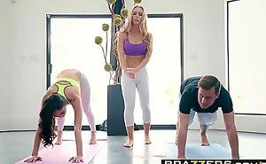Brazzers.com - brazzers exxtra - yoga freaks blear seven instalment starring ariana marie, nicole aniston