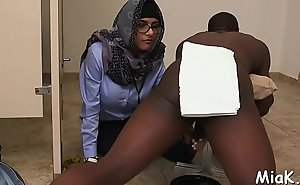 Breasty arab sheik prepares for sex