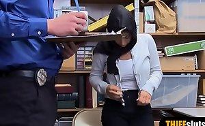 Muslim busty teen sneak-thief everywhere hijab punish fucked hard