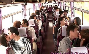 Japanese teen groupsex everywhere effect hotties on a bus