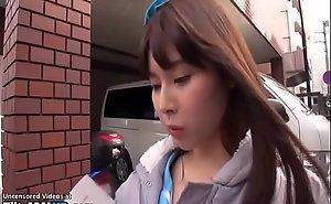 Japanese 18yo schoolgirl has sex in the matter of motor