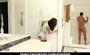 FamilyHookups- Sexy Teen Sucks Retire from StepUncle In Shower