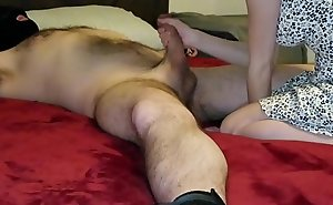 Down in the mouth step daughter finds daddy enclosing tied up increased by blows him