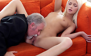 Lucky Tanya finds overseas her old goes juvenile boss also knows how to lick pussy