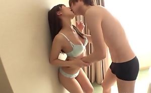 Shy Oriental unspecific takes boyfriend's cum on her face