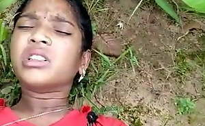 Desi Indian Girl Drilled in Woods
