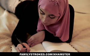 FamilyStrokes - Pakistani Become man Rides Cock In all directions Hijab