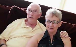 Grandma and older man all round boy