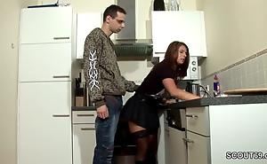 Step-Son Seduce MILF Mama adjacent to Fuck and Cum on Stockings