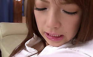 Sexy Asian student loves playing all forsake the brush pussy