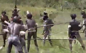 african battalion with small empty saggy tits