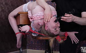 Brutal face shagging added to botheration shagging for constrained about schoolgirl slave