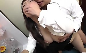 Risky JAV clandestine sex with mom in law in kitchen Subtitled