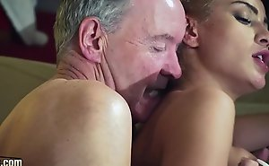 Old Man Dominated away from sexy hot babe in old young femdom hardcore fucking