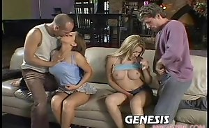 Hailey paige coupled with alexia in group sex screwed