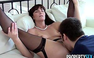 Propertysex - hot milf emissary makes indecent homemade sex movie instalment helter-skelter buyer