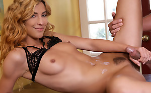 Blonde pamper Shona River sucks her lover off and then swan around quit the impede to be screwed from behind in her tight twat
