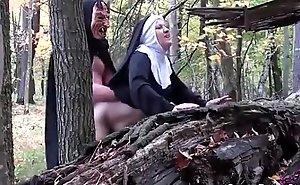 Smoking nun screwed off revel in one's mind devil