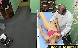 Busty hospital patient cockriding their way doctor