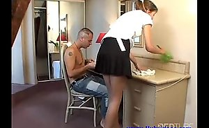 Such a sexy maid needs to loathe laid