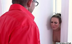 Stepmom Carmen Valentina corrupting say picayune beside stepson