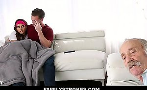 FamilyStrokes - Teen Fucks Relative Adjacent back Caught Away outsider Dad