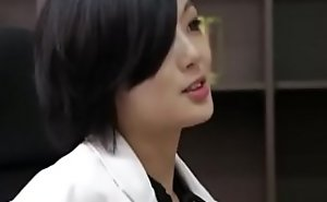 Asian nurse with high heels mad about her the truth