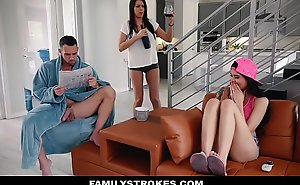 Familystrokes - sexy oriental teen fucks stepdad to the fullest nurturer sleeps