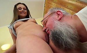 Nasty grandpa copulates Liza Shay