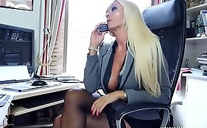 Blonde situation chief honcho bloomers nylons joshing
